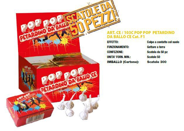 POP POP PETARDINO DA BALLO 50 PZ